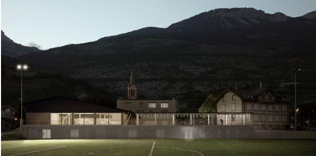 ASSEMBLAGE: Projektwettbewerb Schule / Mehrzweckhalle Salgesch
